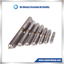 Weld on Bullet Hinges----Steel body , Steel Pin , brass bushing , grease fitting